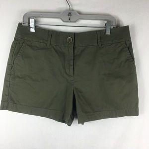 Ann Taylor loft green olive shorts size 8